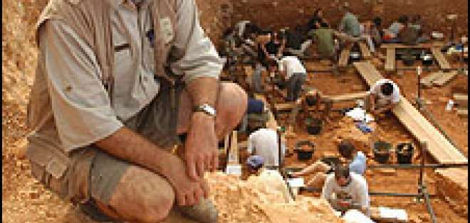 Restos encontrados en la Sierra de Atapuerca. Foto cortesía Iphes.