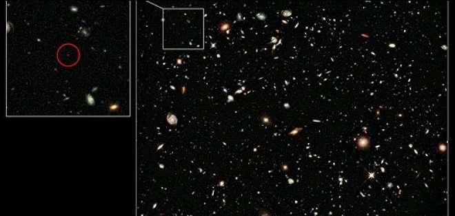 Según los astrónomos, la galaxia nació apenas 600 millones de años después del Big Bang.