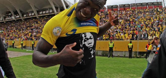 GUAYAQUIL - Ecuador.- Felipe Caicedo quiere jugar en Barcelona Sporting Club. Fuente APi