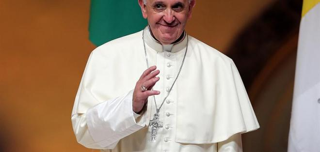 "RÍO DE JANEIRO, Brasil.- Francisco: ""No traigo oro ni plata, sino algo más valioso, a Cristo"". Foto: EFE"