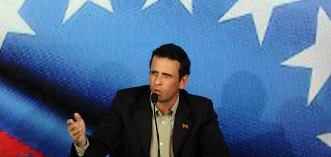 """Capriles dice elección marcará fin o continuidad de """"destrucción"""" de Venezuela. Foto: Archivo"""