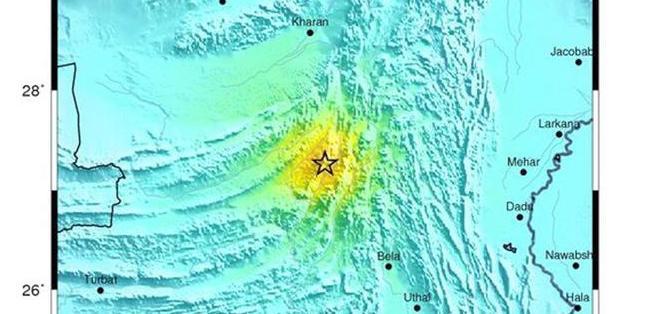 Fotografía del terremoto de 6.8 grados de magnitud que azotó hoy el noreste de Pakistán. Foto: EFE.