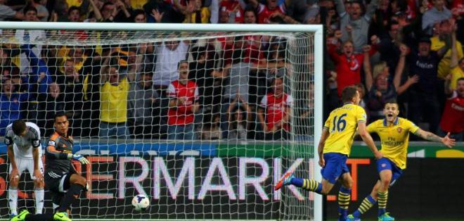 Aaron Ramsey, delantero del Arsenal FC. Fuente EFE
