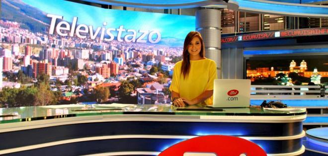 La joven guayaquileña es la nueva presentadora de Deportes en Quito. Foto: Javier Zapata