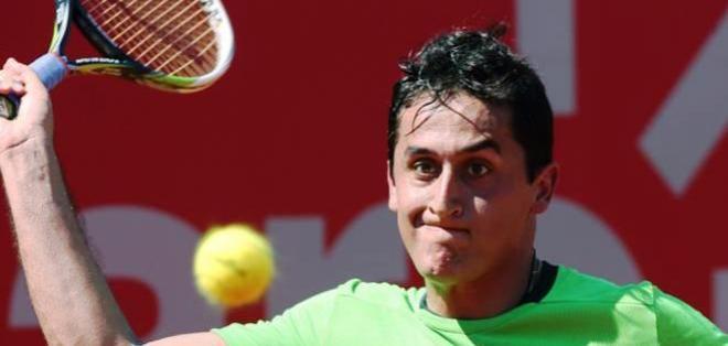 Nicolás Almagro en pleno partido (Foto: ATP de Buenos Aires)