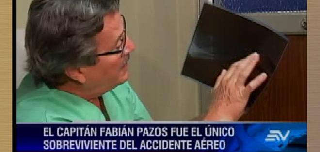 GUAYAQUIL, Ecuador. El capitán es intervenido quirúrgicamente, para sanar las fracturas del brazo y tobillo. Foto: captura de video