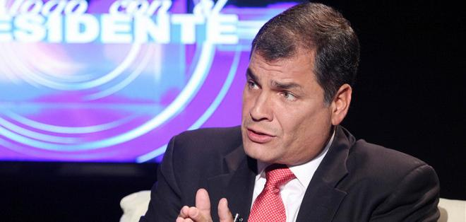 Rafael Correa, presidente de la República. Foto: Presidencia de la República