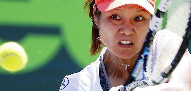 La china Li Na durante su encuentro en el torneo de Miami (Foto: EFE)
