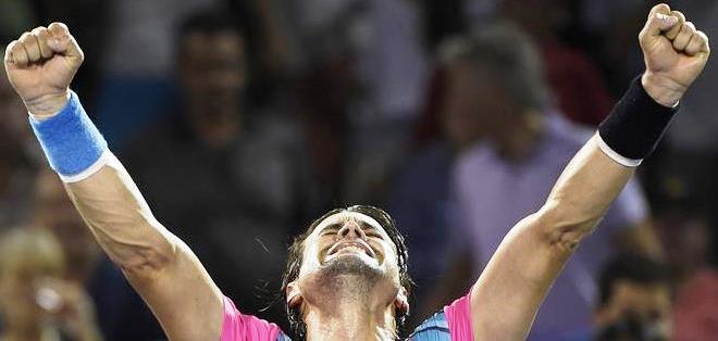 El español David Ferrer celebra su triundo en el torneo de Miami (Foto: EFE)