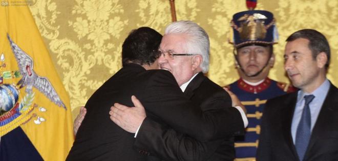 Fernando Cordero Cueva fue posesionado este lunes como el nuevo ministro Coordinador de Seguridad. Foto: API