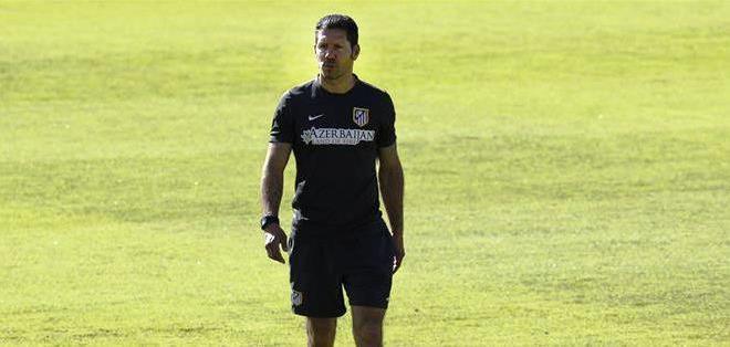 Simeone al mando del Atlético de Madrid (Foto: EFE)