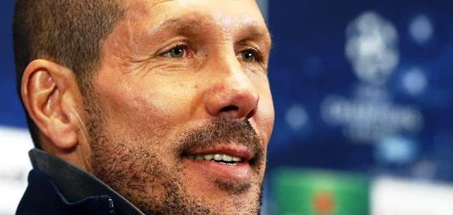 El entrenador argentino Diego Simeone en una rueda de prensa (Foto: EFE)