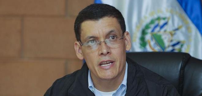 Héctor Mendoza, jefe de Investigaciones de la Policía Nacional Civil (PNC) de El Salvador. Foto: EFE