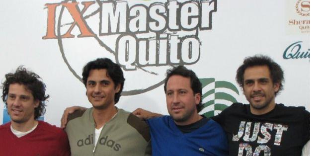 Lapentti junto a Morejón, Gaudio y Zabaleta. Foto: KC Tenis.