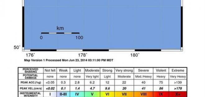 Alerta de tsunami en el Pacífico tras terremoto de magnitud 8 en Alaska. Foto: EFE