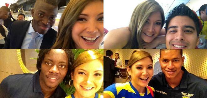 La reportera de Ecuavisa ha llamado la atención estos días a la prensa brasileña por su belleza y la calidad de su trabajo en el Mundial de Fútbol.