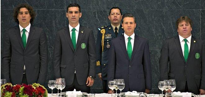 La selección mexicano recibió un homenaje. Foto: Mediotiempo.com