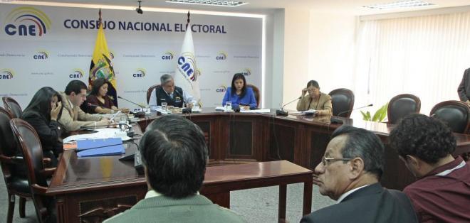 QUITO.- El CNE ratifica la eliminación del Prian, PRE, MPD y Ruptura. Foto: API