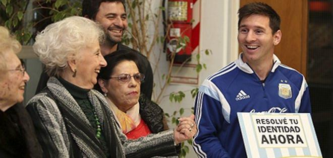 """Messi ha sido parte de la campaña """"Resolvé tu identidad ahora""""."""