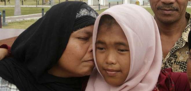 INDONESIA.- Raudhatul Jannah, ahora de 14 años, fue hallada a más de 100 km de distancia de donde desapareció. Foto: BBCMundo.com