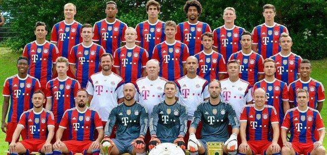 La nómina del Bayern Múnich. Foto: EFE.