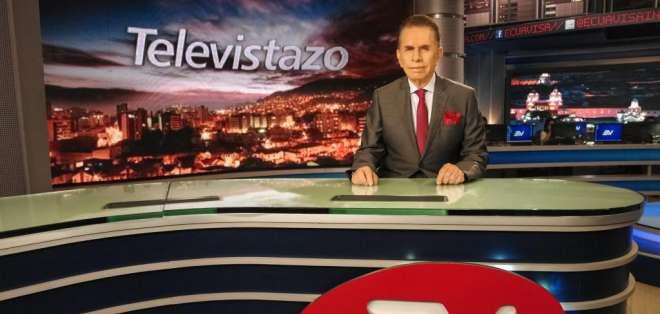ECUADOR.- Don Alfonso es el presentador de noticias con más años (47) al aire ininterrumpidamente en el mundo. Fotos: Ecuavisa