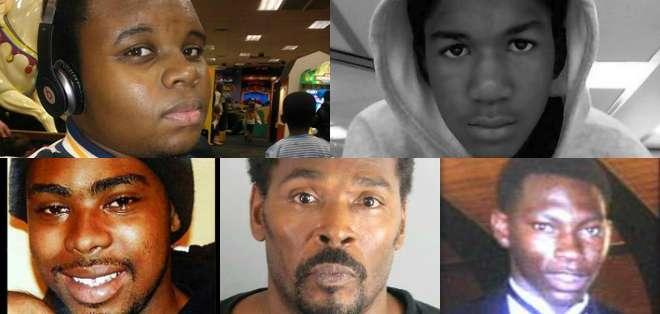 Los cinco comparten el haber sido objeto de la acción policial con resultado de muerte excepto en el caso de Rodney King.
