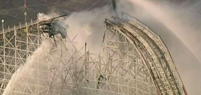 """El siniestro se produjo en la atracción conocida como """"Colossus"""", en el parque Magic Mountain de California."""