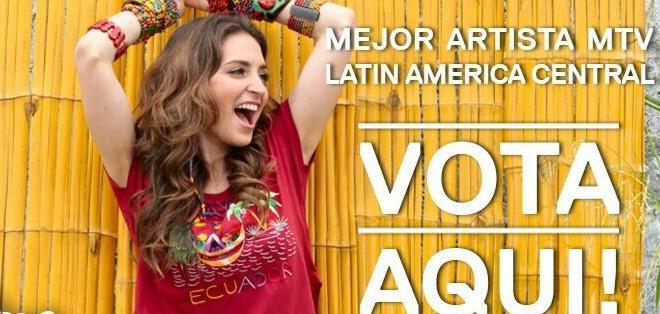 La intérprete de 'El amor es' fue nominada a Mejor Artista Latin American Central.