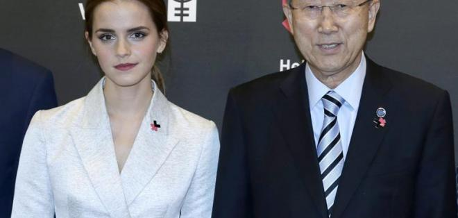 Emma Watson llama a los hombres a unirse a la lucha por la igualdad de género. Foto: EFE
