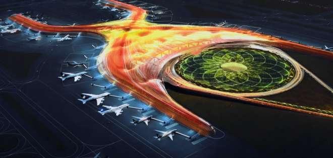 El nuevo aeropuerto de Ciudad de México será uno de los más grandes del mundo. Foto: Presidencia de México.