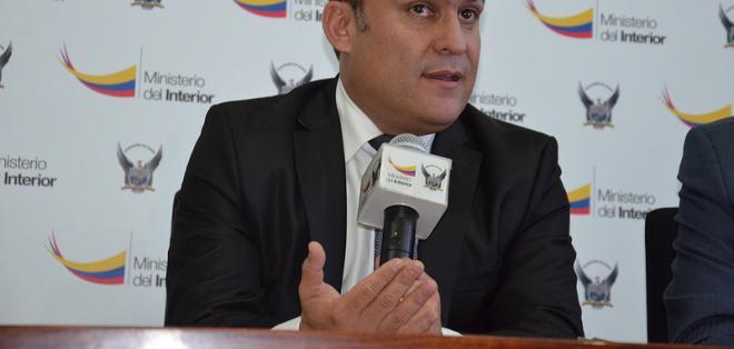 """ECUADOR.- """"Es una aberración lo que dice Vivanco (...), lo que él dice ahí es una serie de mentiras, manipulaciones sobre derechos humanos"""", dijo Serrano. Foto: Ministerio del Interior"""