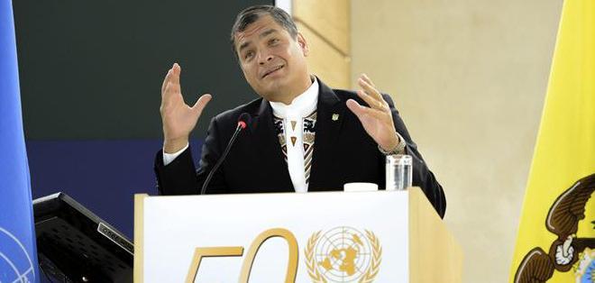 """""""Con la integración debemos buscar potenciar nuestras capacidades, y defendernos del neocolonialismo y del injusto orden mundial"""", agregó Correa."""