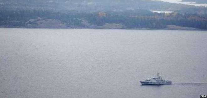 Los suecos hicieron un llamativo despliegue militar a la búsqueda del supuesto submarino.