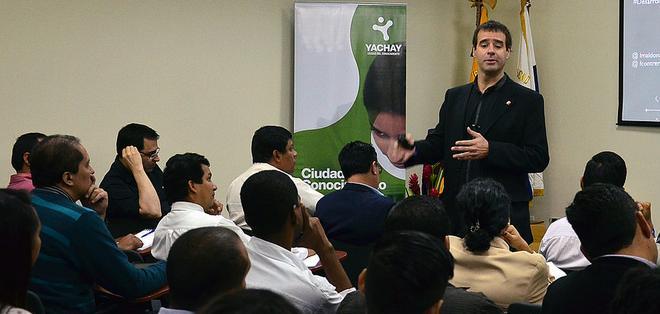 ECUADOR.- En Yachay se ofertan 10 carreras que están en concordancia con el cambio de la matriz productiva. Foto: Yachay