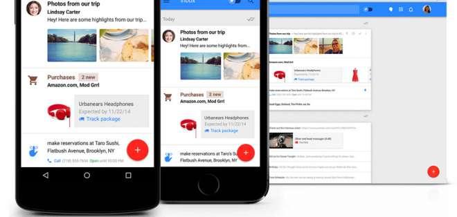 Inbox, una nueva aplicación que organiza el correo electrónico de Gmail de una forma diferente.