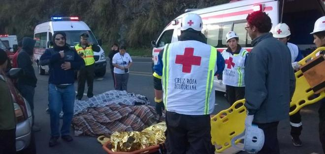 Los heridos han sido trasladados a los hospitales Enrique Garcés y Eugenio Espejo. Foto: COE Quito
