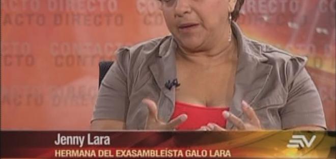 ECUADOR.- Jenny Lara durante su entrevista en Contacto Directo. Foto: Ecuavisa
