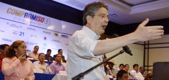 El exbanquero Guillermo Lasso, de Creo, es parte de este colectivo político.