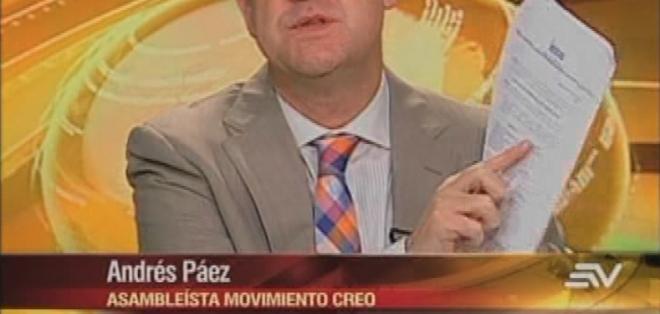 ECUADOR.- Andrés Páez durante su entrevista en Contacto Directo. Foto: Ecuavisa