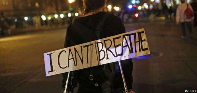 """""""No puedo respirar"""", repetía una y otra vez Eric Garner."""