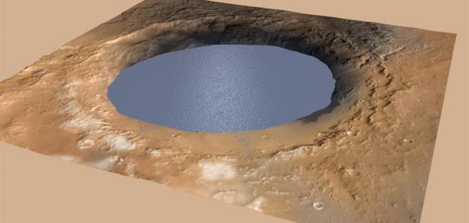 Los datos recogidos por el robot explorador Curiosity revelan que el monte Sharp, formado dentro del cráter Gale, podría estar formado por los sedimentos depositados en el lecho de un lago. Fotos: EFE.
