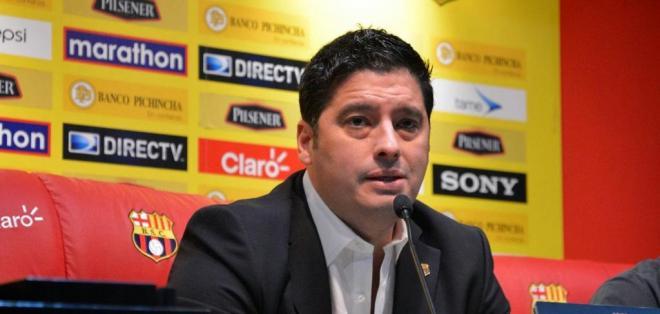 El presidente de Barcelona confirmó Henry Patta, Armando Wila y Marlon de Jesús.