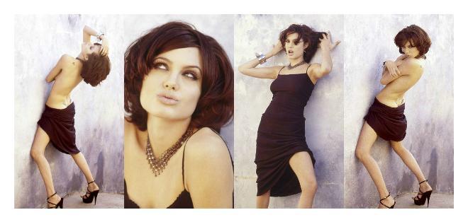 Las imágenes fueron tomadas mucho antes de que la actriz saltase a la fama.