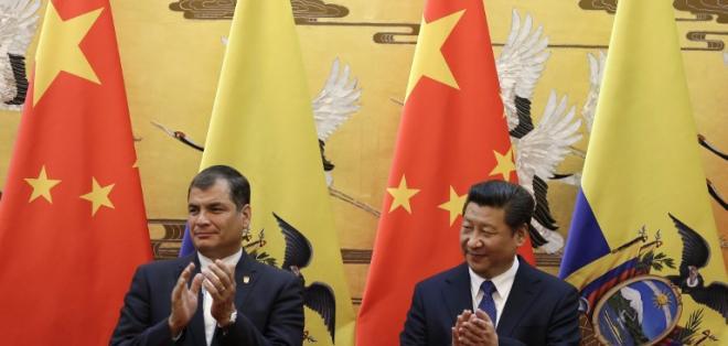 La cooperación de China a Ecuador alcanzaría los  7.500 millones de dólares.