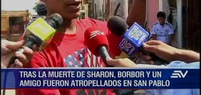 Javier Borbor asegura haber sido golpeado por el auto que conducía Tatiana C, 48 minutos después del fallecimiento de la cantante Sharon.