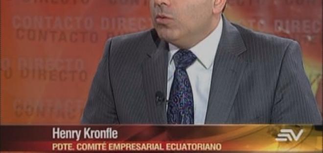 ECUADOR.- Henry Kronfle durante su entrevista en Contacto Directo. Foto: Ecuavisa