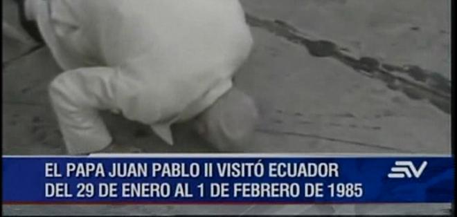 En 1985 se dio la primera y única visita de un sumo pontífice a territorio ecuatoriano.