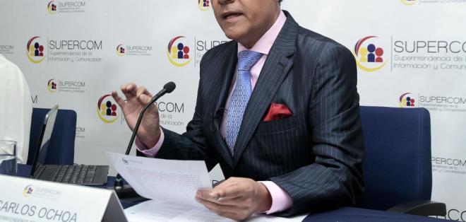 ECUADOR.- El superintendente de Comunicación, Carlos Ochoa, asegura que en el país hay total libertad de expresión. Foto: API