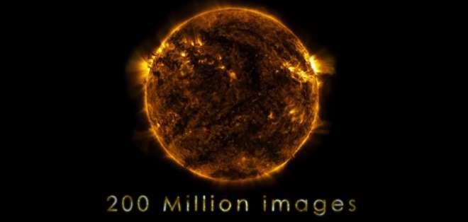 CIENCIA.- Se trata de 200 millones de imágenes del Sol, que permite desarrollar investigaciones científicas.